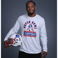 6X Champs Throwback Long Sleeve Tee-White