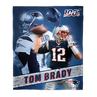 Tom Brady 100 Year 50x60 Blanket