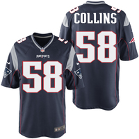 Nike Jamie Collins #58 Game Jersey-Navy
