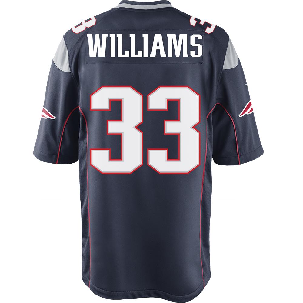 Williams33nikegamejerseynavyback