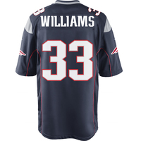 Nike Joejuan Williams #33 Game Jersey-Navy