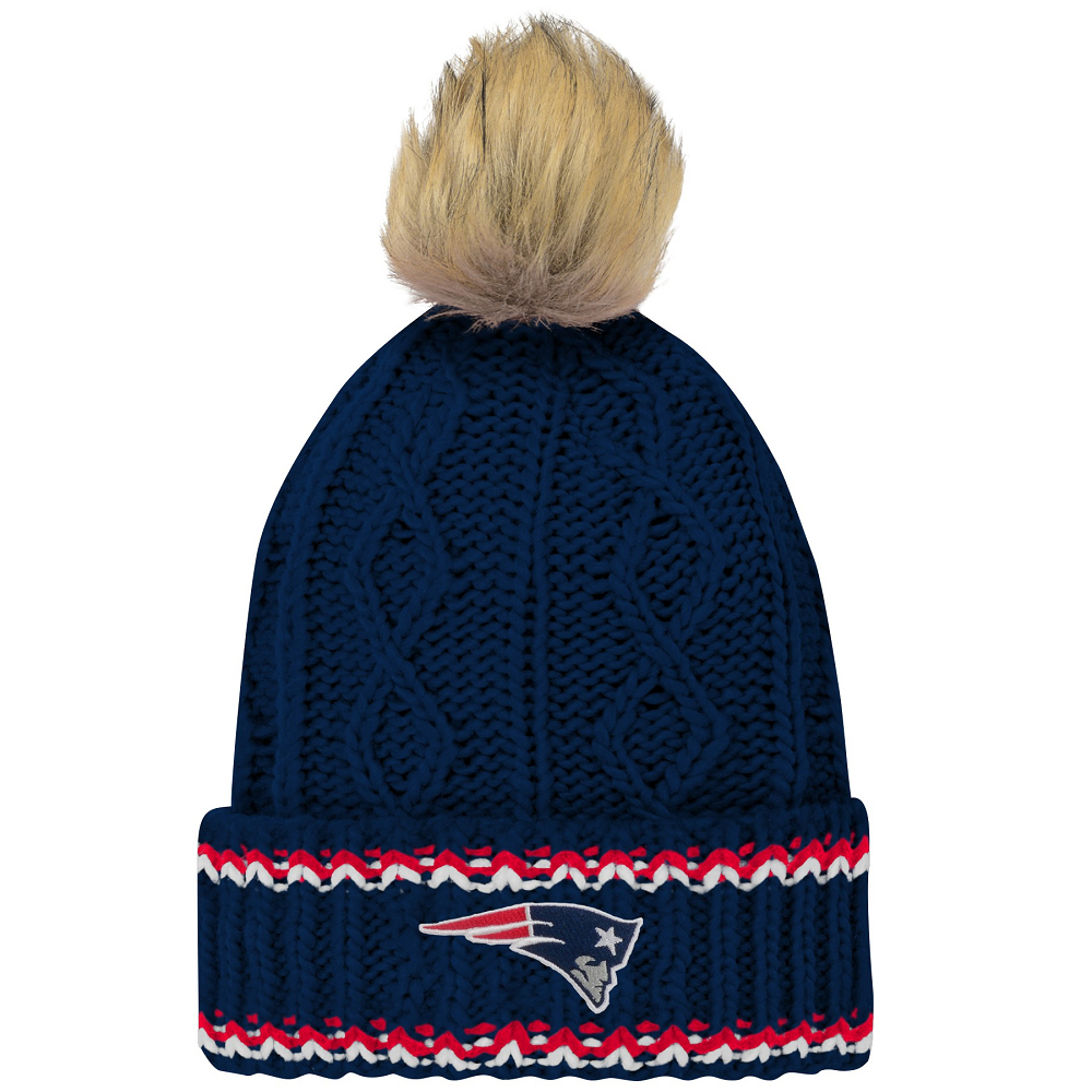 Girls Furry Pom Cable Knit