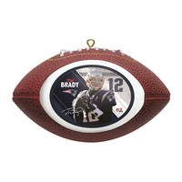 Tom Brady Football Ornament