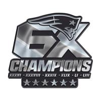 6X Champs Auto Silver Emblem