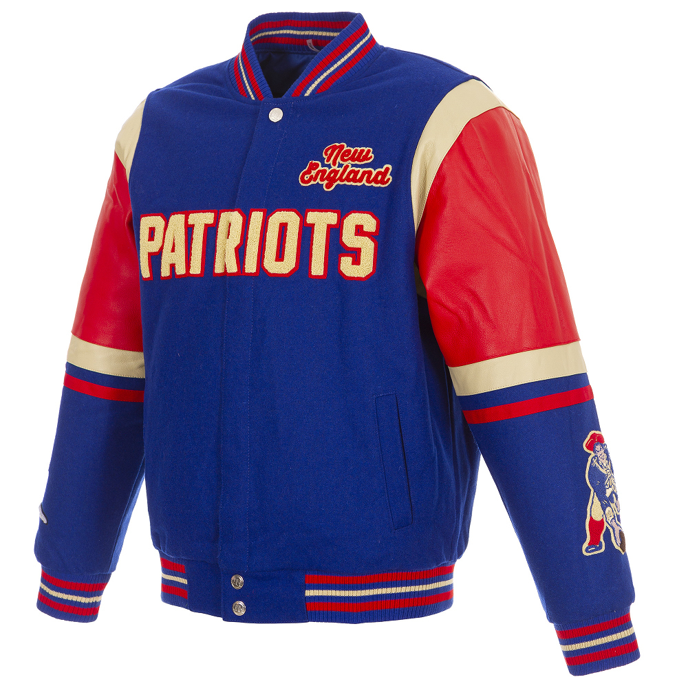 JH Throwback Reversible Wool/Leather Varsity Jacket