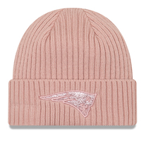 Ladies New Era Logo Glisten Knit-Pink