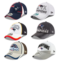 6X Champs Super Bowl Cap Collectors Display Box Set