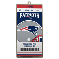 Metal Ticket Ornament