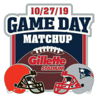 Patriots/Browns Game Day Pin
