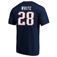 James White Name and Number Tee