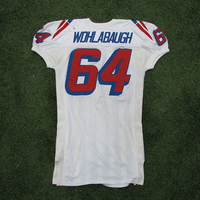 1995-96 Dave Wohlabaugh #64 Game Worn White Jersey