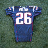 2004 Eugene Wilson Game Worn Navy Jersey