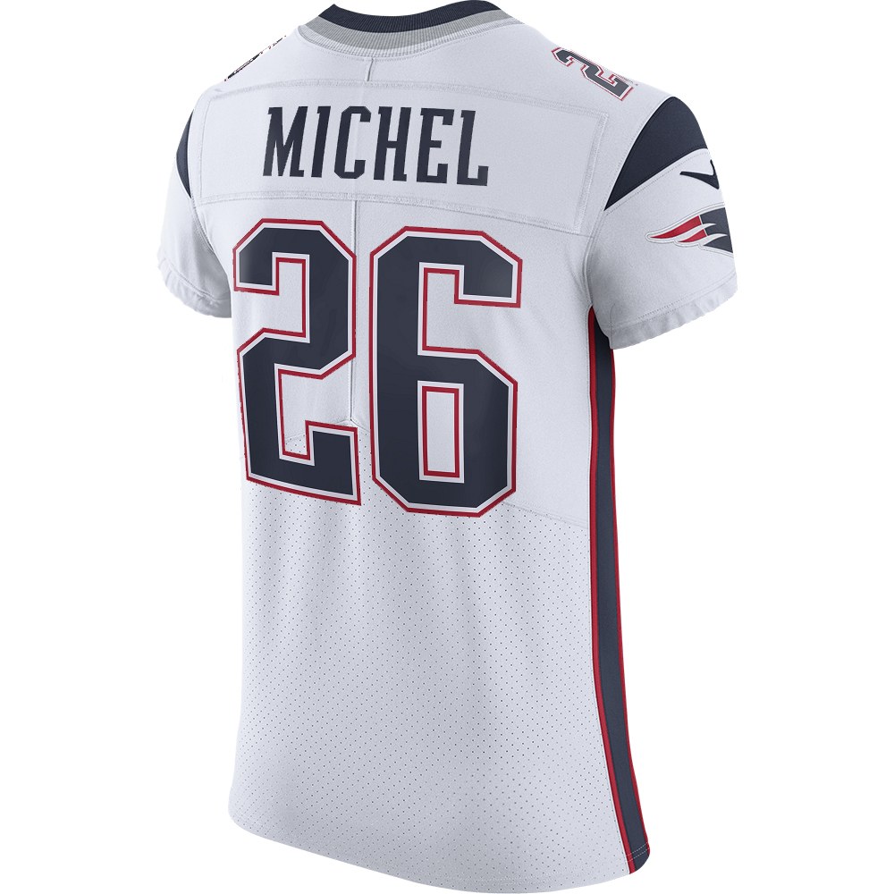Nike Elite Sony Michel #26 Jersey-White