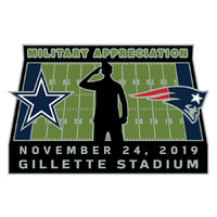 Patriots/Cowboys Game Day Pin