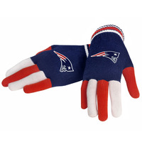 Multi Color Knit Logo Gloves