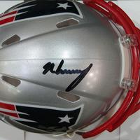 Autographed N'Keal Harry Mini Helmet w/Case