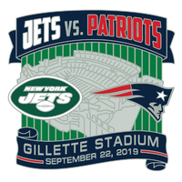 Patriots/Jets Game Day Pin