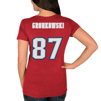 Ladies Gronk Throwback Name+Number Tee