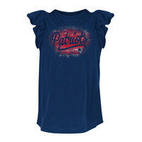 Girls Logo Ruffled Top