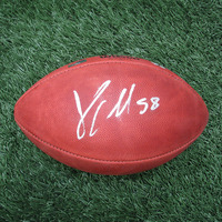Jamie Collins Signed Official NFL Football w/Case