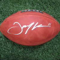 Autographed Julian Edelman SB LIII Duke Football w/Case