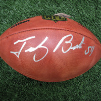 Autographed Tedy Bruschi Official Duke Football w/Case