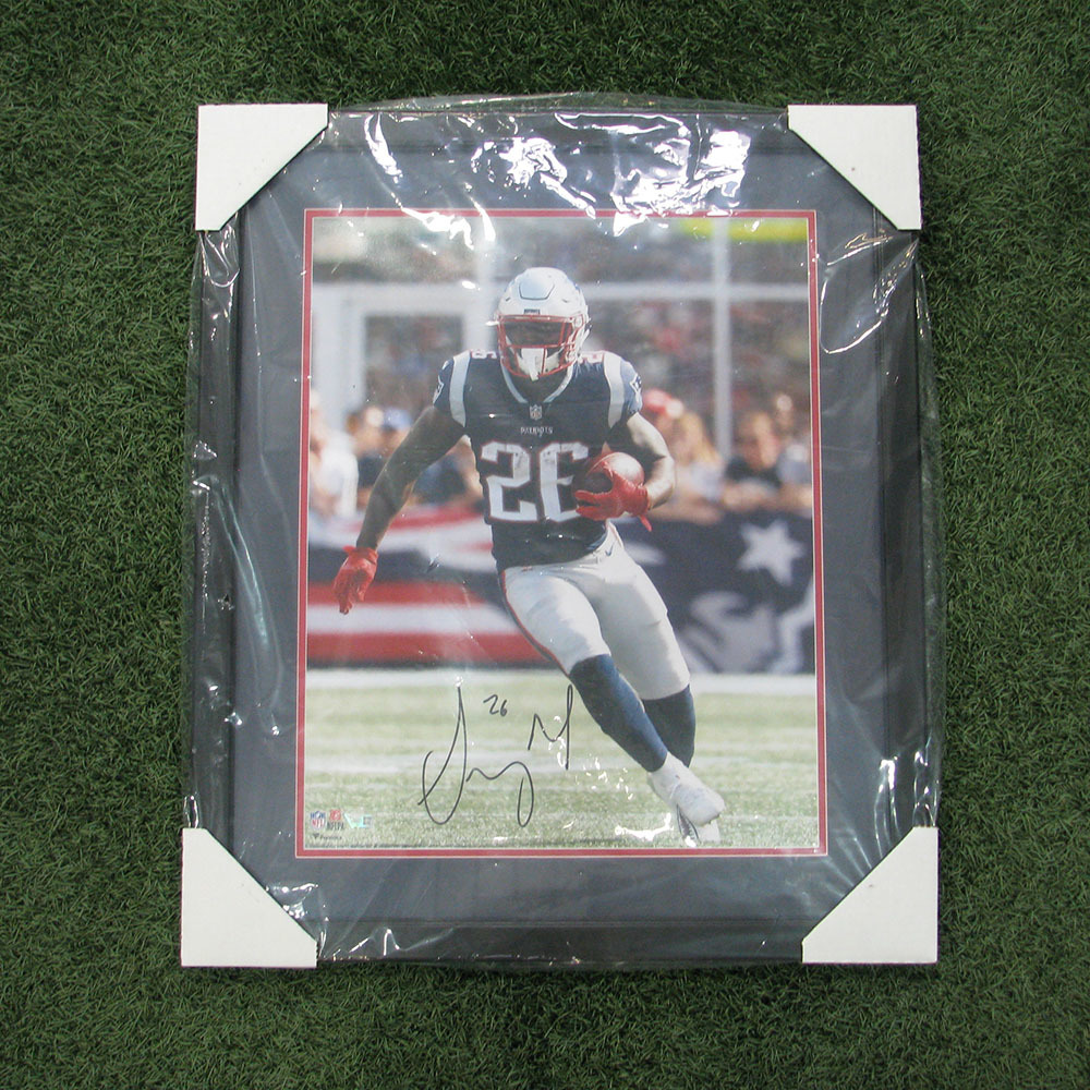 Autographed Sony Michel Framed Photo