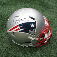 Autographed Julian Edelman Full Size Speed Helmet w/Case